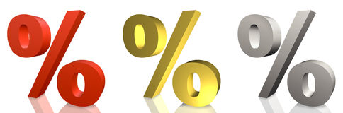 Percentage on sale Royalty Free Stock Photos