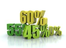 Percentage sale 3d render Stock Photography