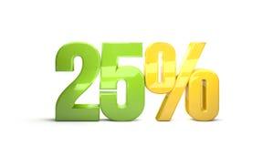 25 percentage sale discount 3d render. Illustration Stock Photography