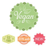 Percentage sale, new, eco food, vegan.Label,set collection icons in cartoon style vector symbol stock illustration web. Stock Photos