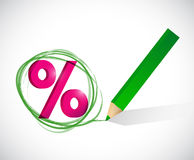 Percentage selection illustration design. Over a white background Stock Photography