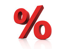 Percentage sign Royalty Free Stock Photos