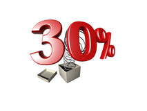 Percentage sign Royalty Free Stock Images
