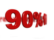 Percentage sign. 3d rendered percentage signs with dof, focused on actually, series Stock Images
