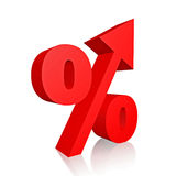 Percentage Sign. White background percentage sign symbol Royalty Free Stock Image