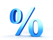 Percentage sign. 3d rendered illustration of a percentage sign Royalty Free Stock Images