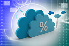Percentage sign in cloud Royalty Free Stock Images