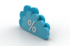 Percentage sign in cloud. Business concept Royalty Free Stock Photo
