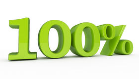 Percentage Sign 100. 3d high quality render Royalty Free Stock Photos