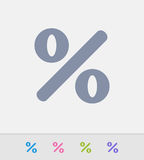 Percentage Sign - Granite Icons Stock Photos