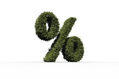 Percentage sign made of leaves Royalty Free Stock Photo