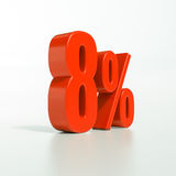 Percentage sign, 8 percent Stock Photography