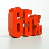 Percentage sign, 65 percent Stock Photo