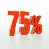 Percentage sign, 75 percent Royalty Free Stock Image