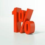 Percentage sign, 1 percent Stock Photos