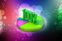 Percentage sign with pie chart Royalty Free Stock Photo