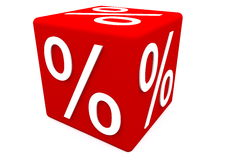 Percentage sign Stock Images