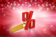 Percentage sign with tag Royalty Free Stock Image