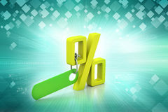 Percentage sign with tag Stock Photo