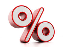Percentage sign Royalty Free Stock Photo