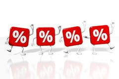Percentage signs concept... Stock Images