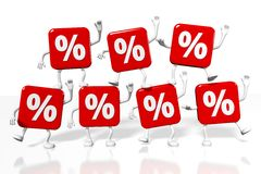 Percentage signs concept... Royalty Free Stock Image