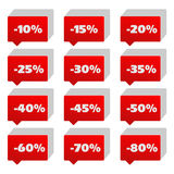Percentage signs Royalty Free Stock Photo