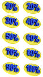 Percentage signs promotion offer for sales discount 3D illustration Royalty Free Stock Photos