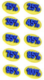 Percentage signs promotion offer for sales discount 3D illustration Stock Image