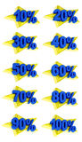 Percentage signs promotion offer for sales discount 3D illustration Stock Photos