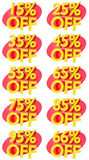 Percentage signs promotion offer for sales discount 3D illustration Royalty Free Stock Image