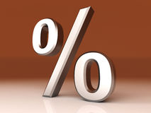 Percentage Symbol Royalty Free Stock Photo
