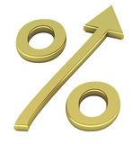 Percentage symbol Stock Photography