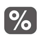 Percentage symbol financial flat icon. Isolated  illustration Stock Photos