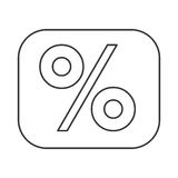 Percentage symbol financial flat icon Stock Photo