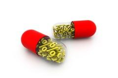Percentage symbol inside the pill. Digital illustration of Percentage symbol inside the pill Stock Photos
