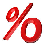 Percentage symbol in red Stock Image