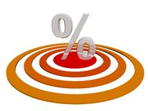 Percentage on Target Royalty Free Stock Image