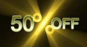 Percentage van de banner van de kortingsverkoop royalty-vrije illustratie