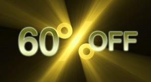 Percentage van de banner van de kortingsverkoop Stock Foto