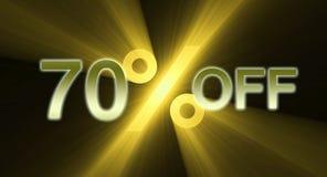 Percentage van de banner van de kortingsverkoop Royalty-vrije Stock Fotografie