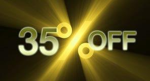 Percentage van de banner van de kortingsverkoop stock illustratie