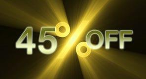 Percentage van de banner van de kortingsverkoop Stock Foto's