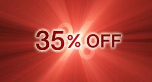 Percentage van kortingsbanner royalty-vrije illustratie