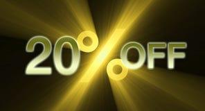 Percentage van kortingsbanner Stock Afbeeldingen