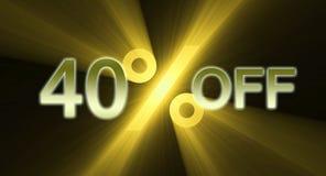 Percentage van kortingsbanner Royalty-vrije Stock Afbeelding