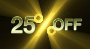 Percentage van kortingsbanner Stock Afbeelding