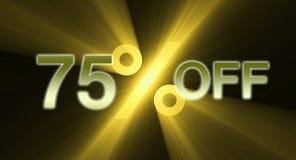 Percentage van kortingsbanner stock illustratie