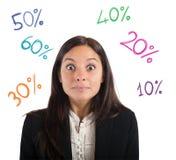 Percentage van winst Stock Foto's