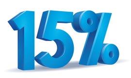 Percentage vector, 15. Illustration Vector of 15 percent blue color in white background stock illustration